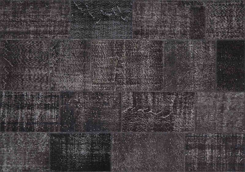Antraciet grijs vintage patchwork tapijt - Carpet@Home